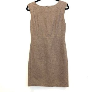 Brooks Brothers 8 Wool Herringbone Shift Dress